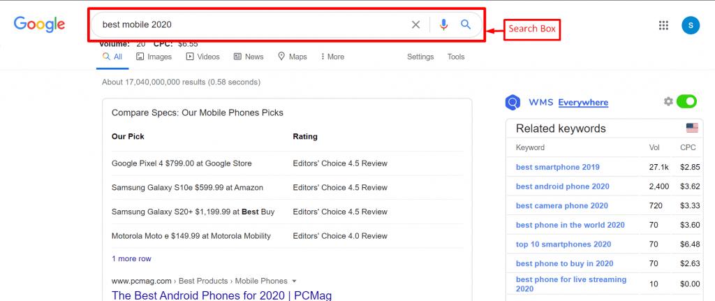Google search box-free seo course