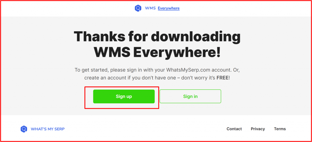 WMS everywhere sign up-free seo course